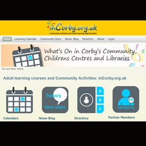 inCorby learning and community activities directory