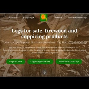 Logs N Firewood site with Paypal cart