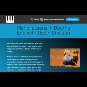 Piano Teacher website
